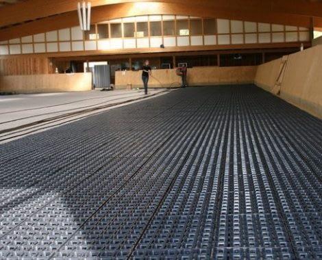 Ridebane på betongulv med TDJ Hit armering