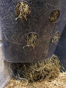 slowfeeder, høhæk, heste, fodring af hæste, tdj hayfeeder
